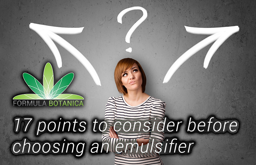 17 Points to Consider when Choosing an Emulsifier