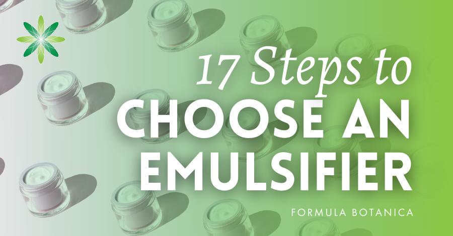 2015-07 Steps to choosing an emulsifier
