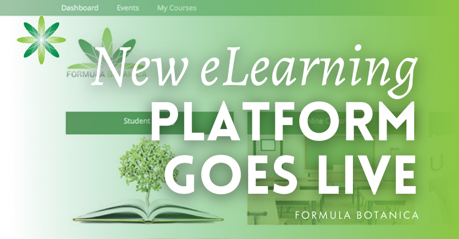 2016-03 Formula Botanica new elearning platform live
