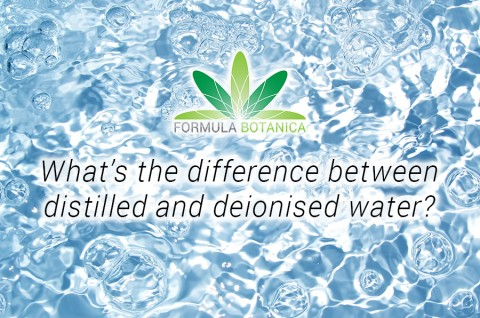 What's the difference between distilled and deionized water?