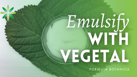 How to make an emulsion with Vegetal