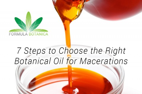 7 Steps to Choose the Right Botanical Oil for Macerations