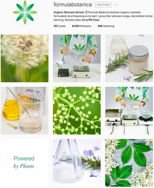 Instagram Formula Botanica