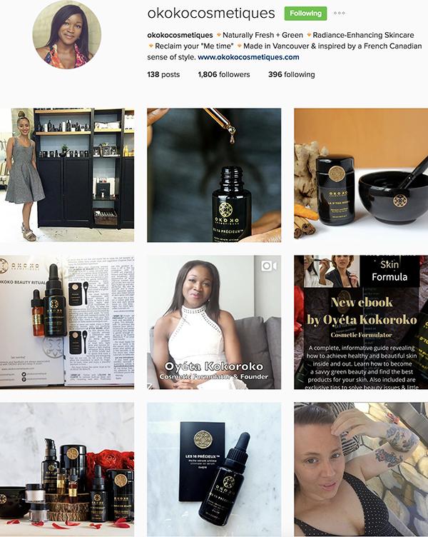 Instagram Okoko Cosmetiques