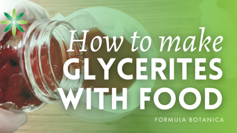 How to make Glycerites With Fresh Food