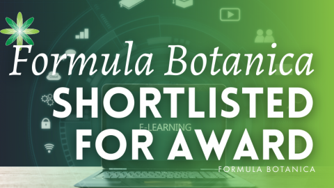 Formula Botanica is shortlisted for the Learning Technologies Awards
