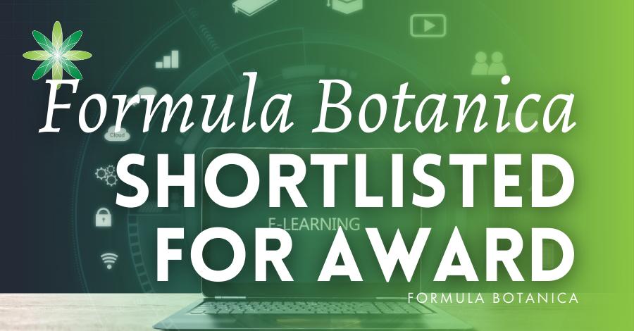 2016-09 Formula Botanica Shortlisted for eLearning Award