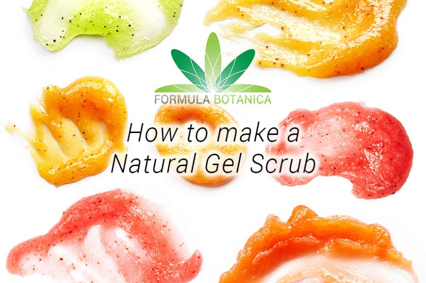 How to make a Natural Gel Scrub