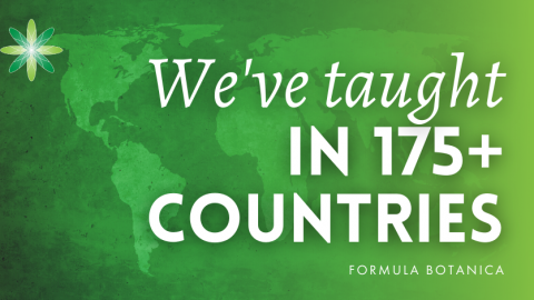 Formula Botanica courses taught in 100+ countries