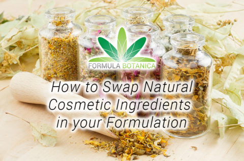 How to swap Natural Cosmetic Ingredients in your Formulation