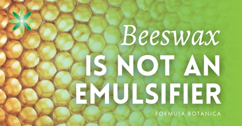 Why Beeswax is not an Emulsifier