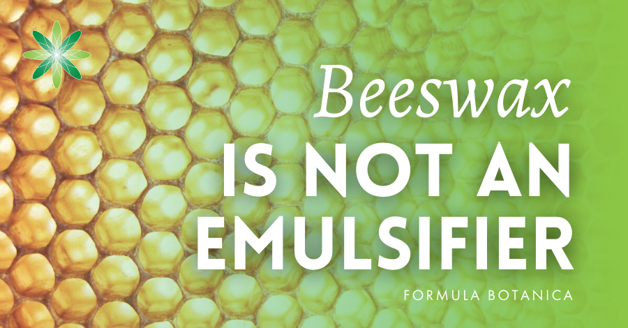 2016-12 Why Beeswax is not an emulsifier