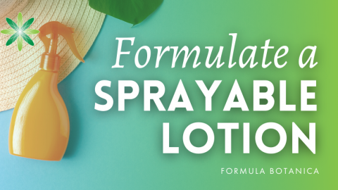 How to make a Sprayable Body Lotion with Sucrose Stearate