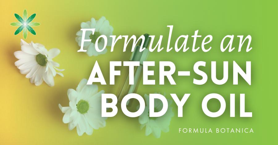 2017-09 Formulate an after-sun body oil