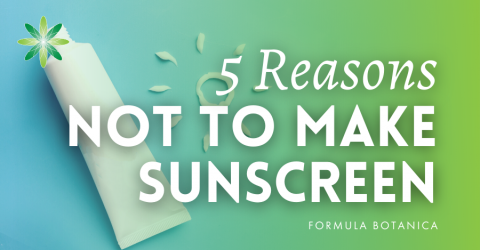 5 Reasons why you should not make Homemade Sunscreen