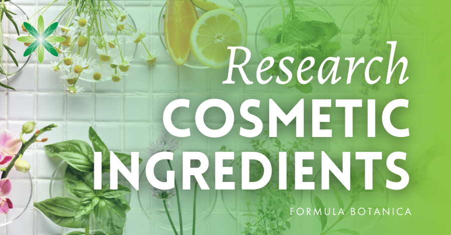 2018-07 Research cosmetic ingredients
