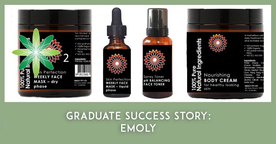 Emoly natural skincare products - Formula Botanica graduate story