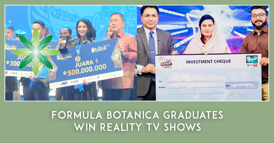 2019-01 Formula Botanica Graduates win Reality TV Shows