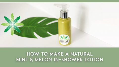 How to Make a Natural Mint & Melon In-Shower Lotion