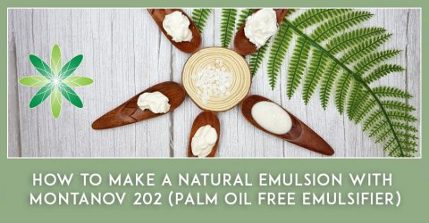 How to make a natural emulsion with Montanov 202 (Palm oil free emulsifier)