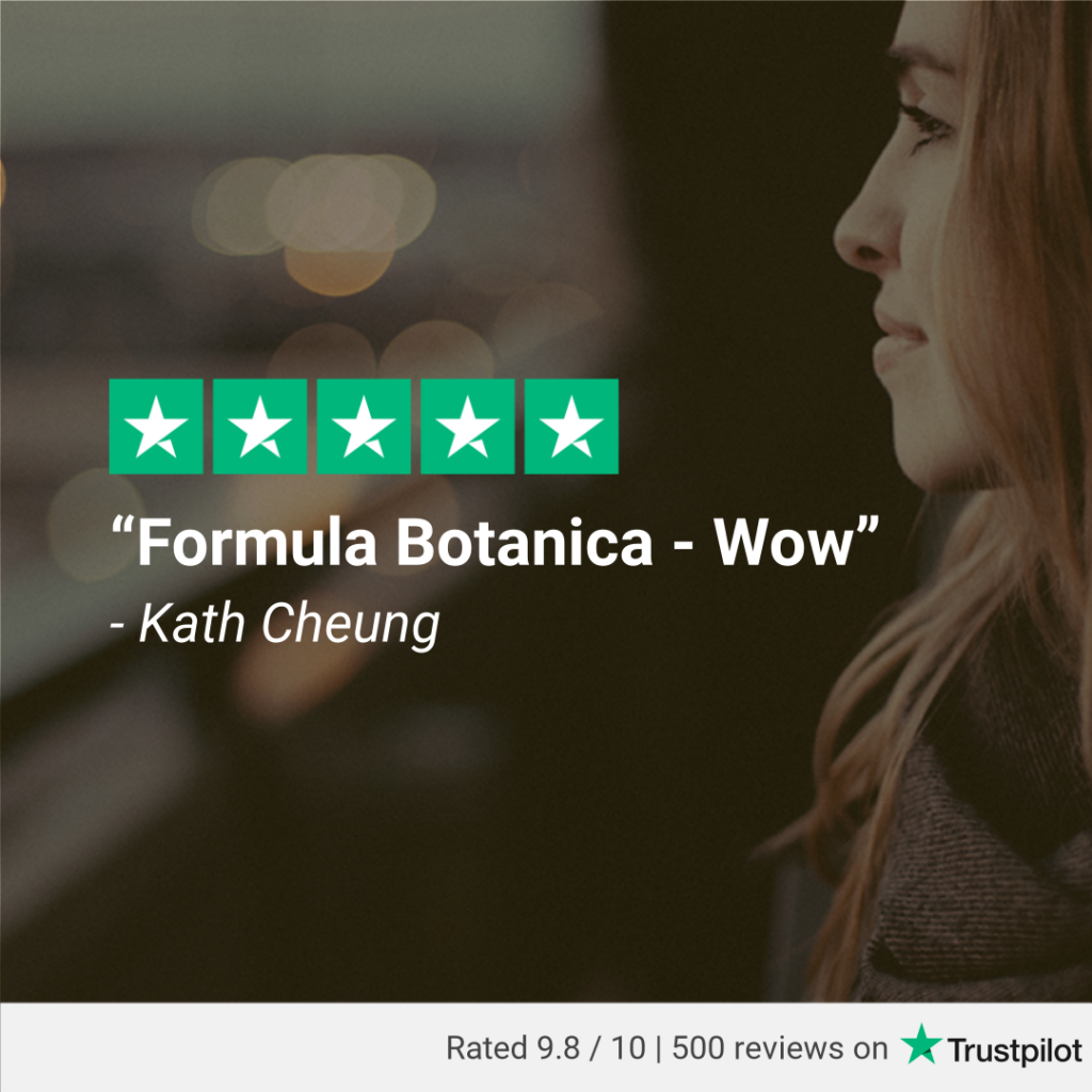 500 Trustpilot reviews Formula Botanica