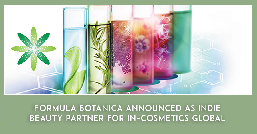 Formula Botanica announced as official indie beauty partner for in-cosmetics Global 2020