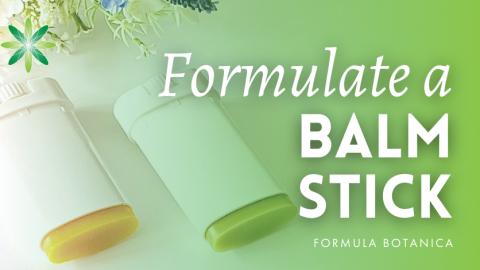 Formulate a Green Tea and Cocoa Body Balm Stick