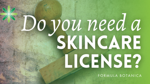 Do you need a licence to sell skincare products?