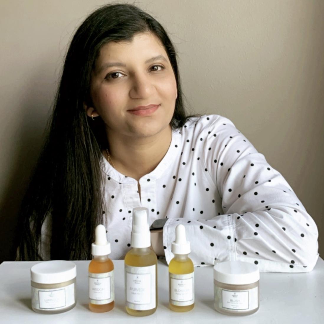 Formula Botanica Graduate - Ikhlaas Majid with cosmetics