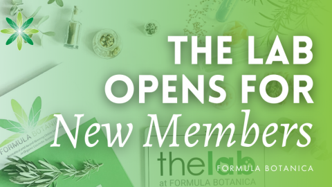 The Lab at Formula Botanica Opens Membership to All