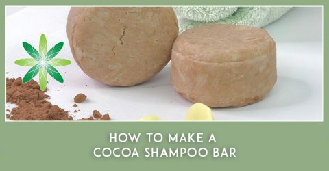 How to make a cocoa shampoo bar