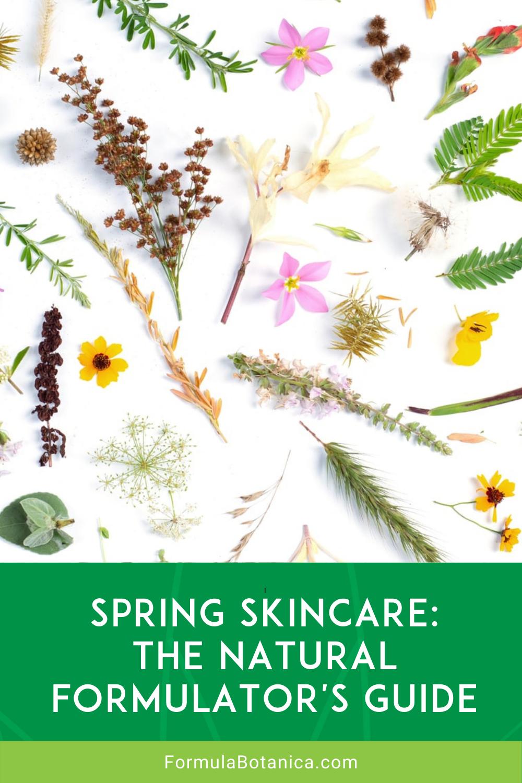 Spring Skincare - Natural Formulator's Guide