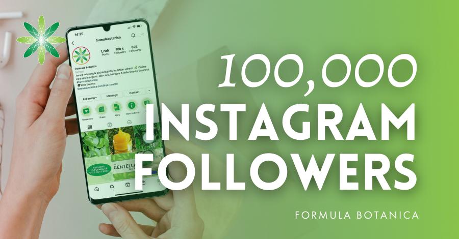 100,00 Instagram followers graphic